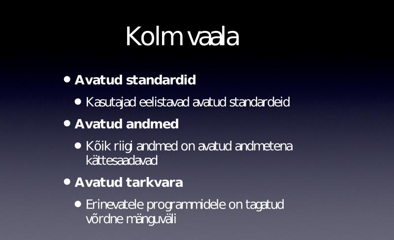 """Slaid Linnar Viigi ettekandest konverentsil """"Omamoodne valitsemine"""" 2012. aasta novembris"""